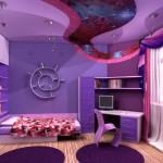 Настенные обои в фиолетовом цвете