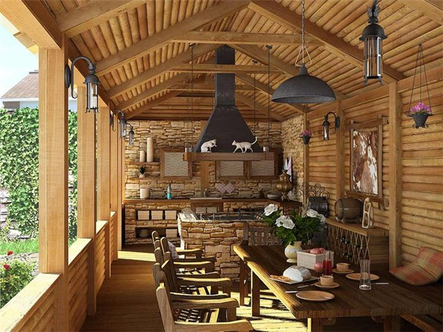 интерьер кухни в стиле кантри